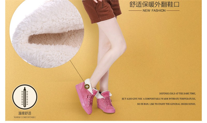New Women Winter Faux Suede Leather Warm Plush Ankle Boots Autumn Women Shoes Fur Snow Boots Comfortable Running Shoes Sneakers 18