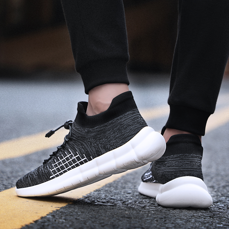 Men Casual Shoes Autumn Style Man Mesh Breathable Flat Black red gray Soft Fashion Outdoor  5