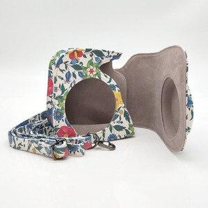 Image 5 - Capa de couro pu flor para câmera, para fujifilm instax mini 9 8 plus, filme instantâneo com acessórios de bolso e correia