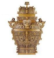 Античная бронза утвари Площади Украшения, тонкой медной квадратных украшения, украшения дома украшения