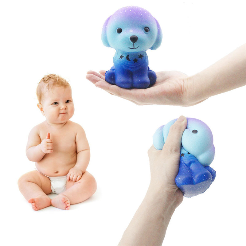 Squishies Galaxy Puppy Slow Rising Cartoon Cream Scented Stress Relief Toys  Rising Wipes Anti-stress Toys A1