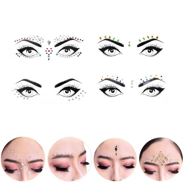 1 Arkusz Jewel Oczy Makijaż Kryształ Oczy Naklejka Tatuaż Diament