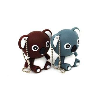 Cartoon animal Cute Koala Bear USB Flash Drive 8GB Memory Stick Pen 4GB 16GB 32GB Creative PenDrive
