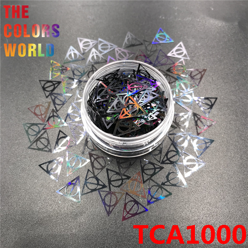 Image 3 - Hollows Triangle 10MM Nail Glitter Nail Art Decoration Makeup Handwork Tumblers Craft DIY Accessoires Festival Party Supplier-in Nail Glitter from Beauty & Health