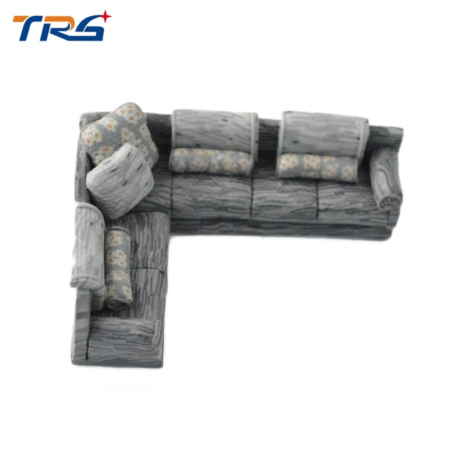 10pcs Miniature Simple Sofa Set 1 50 Scale Plastic Model For Living