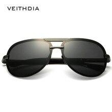 2017 de aluminio y magnesio veithdia hombres gafas de sol polarizadas conductor gafas de sol masculinas gafas eyewears accesorios gafas gafas de sol