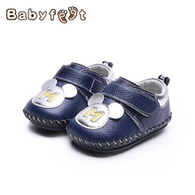 Hot Sale Spring Autumn Genuine Leather Baby First Walkers Anti-skid Soft Bottom Boys Girls Shoes Breathable Wearable Design