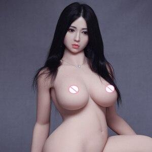 Реалистичные полносиликоновые секс-куклы 170 см, японские сексуальные игрушки для мужчин, Большая большая попа и грудь, кукла для взрослых, Р...