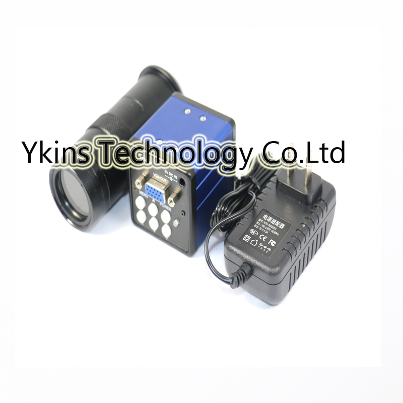 8X 130X VGA output Industrial Video Microscope Camera 1600x1200 resolution For PCB SMD SMT Repair Inspection Tool