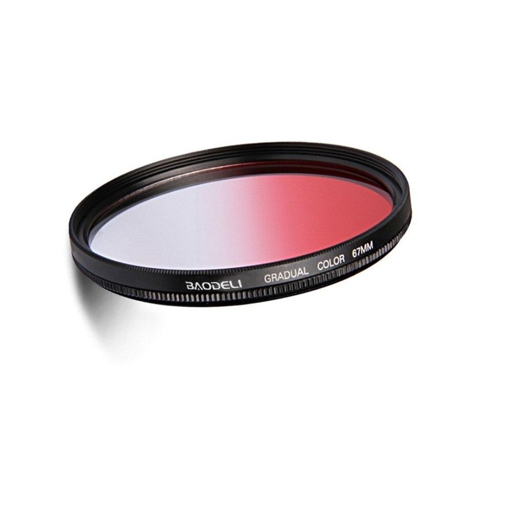 """מוצרי חשמל לבית BAODELI גריי אורנג כחול אדום Nd מסנן Gradient 49 קונספט 52 55 58 62 67 72 77 82 מ""""מ Canon 77d Nikon Sony אביזרים A6000 (3)"""