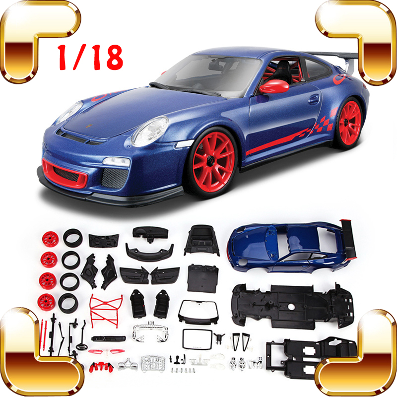 Christmas Gift GT3 RS 1/18 DIY Model Assemble Toys Car Piece Together Game Decoration Toys Cars Alloy Collection Scale Present new year gift rr 1 18 large model car metal vehicle suv car front decoration alloy luxury present men collection die cast toys