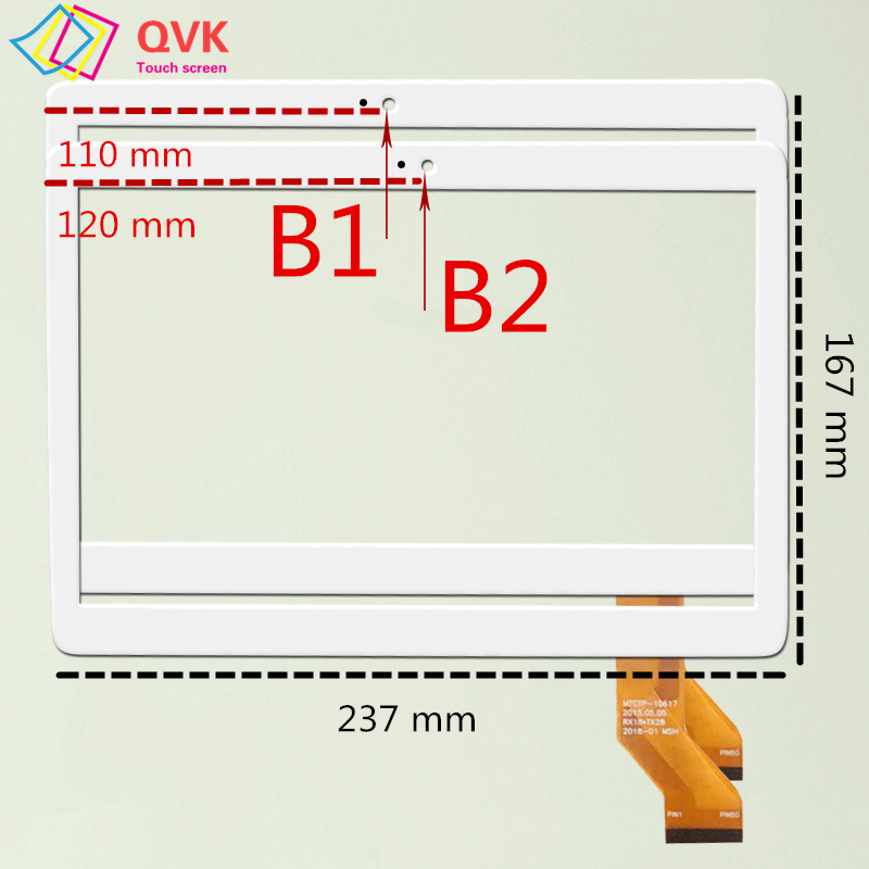 New 10.1 Inch For BMXC B801/K108/K107/S107/T900/S108/S109 Capacitive Touch Screen Panel Repair Replacement Mtk8752