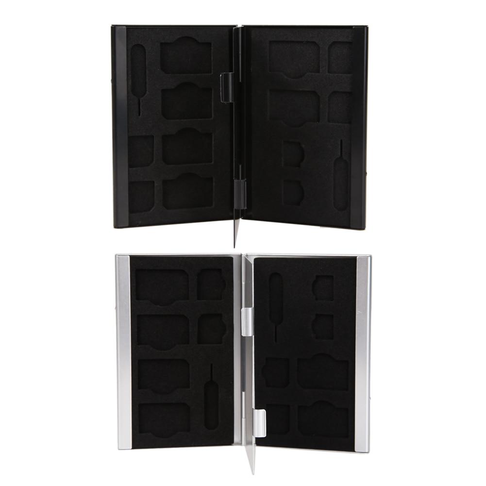 f60a437d0a EV ALLOYSEED SIM Alumínio Anti-estática Saco Duro 14 em 1 Alumínio SIM  Micro Nano SIM Cards Pin Caixa de Armazenamento Titular Caso Protetor