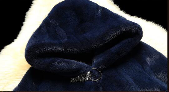 À 2018 Naturelle Femmes Capuchon Chaud La De Yolanfairy Mf339 Outwear Manteaux Manteau Plus Épaississement Taille Double 100Fourrure Bleu Vison D'hiver jRL43Aqc5