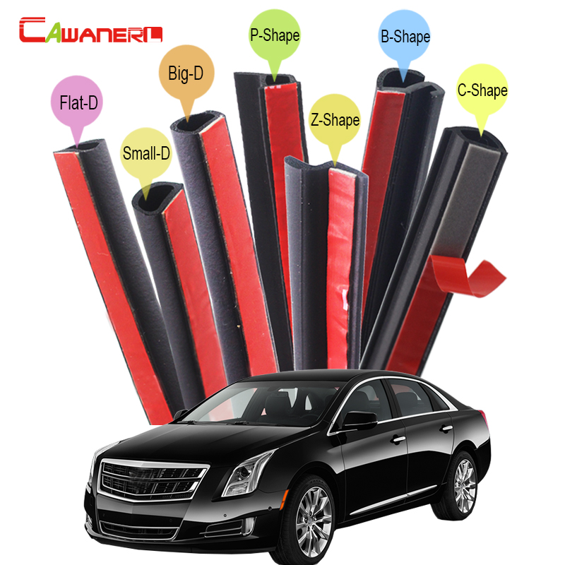 Cawanerl Rubber Car Sealing Seal Strip Kit Sound Insulation Vehicle Seal Edge Trim Weatherstrip For Cadillac STS XTS DeVille cawanerl car rubber seal strip kit noise insulation seal edge trim weatherstrip self adhesive for jeep compass patriot liberty