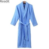 Readit Warm Robe 2017 Winter Men Women 100 Cotton Thick Terry Bathrobe Lovers Solid Towel Sleepwear