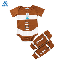 2018 Brand New Toddler Infant Newborn Kids Baby Boys Rugby Clothes Romper Short Sleeve Tops T-shirt Leggings 2Pcs Outfits Set
