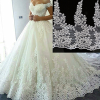 Sequins Embroidery Lace Flower Leaf Shaped Bride Wedding Accessories Lace Trimmings For Clothing Material Manual DIY