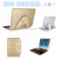 With Russian Letter 360 Degree Rotating Wireless Bluetooth Keyboard For Ipad Air Detachable Bluetooth Keyboard Case