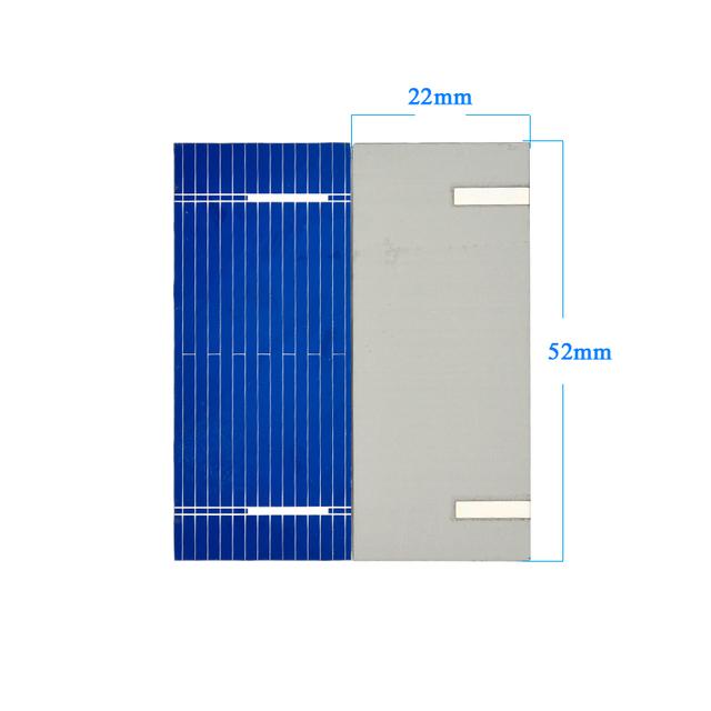 Aoshike 100pcs Mini 52*22MM Solar Panel For DIY Polycrystalline Solar Cell DIY Cell Phone Charging 0.19W