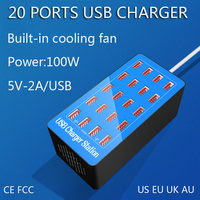 40 20 10 Port USB Charger Station 100W 200W 5V 20A 40A Universal Mobile Phone Quick Charge for iPhone iPad Samsung Huawei Xiaomi
