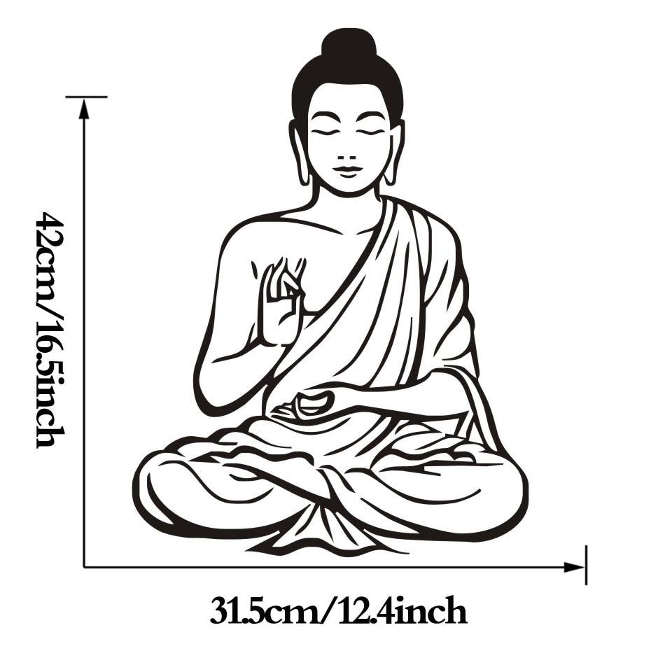 Meditating Buddha Wall Sticker 5