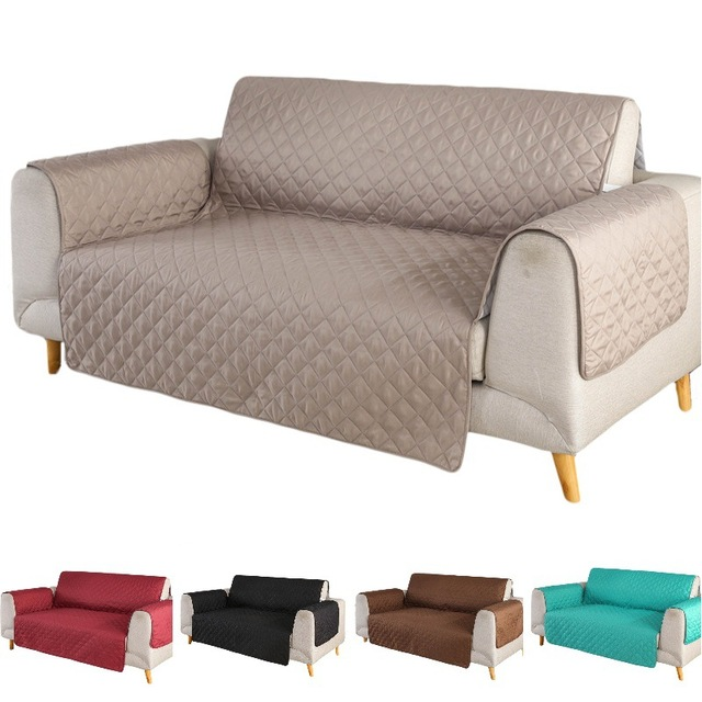 1pcs Solid Color Sofa Couch Cover Coat Washable Removable Towel Armrest Covers Slipcovers Dog Pets