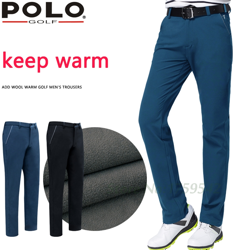 2016 New POLO Golf Pants Men Trousers Slim Pants Winter Plus Velvet Elastic Keep Warm Sport Pants XXS-3XL