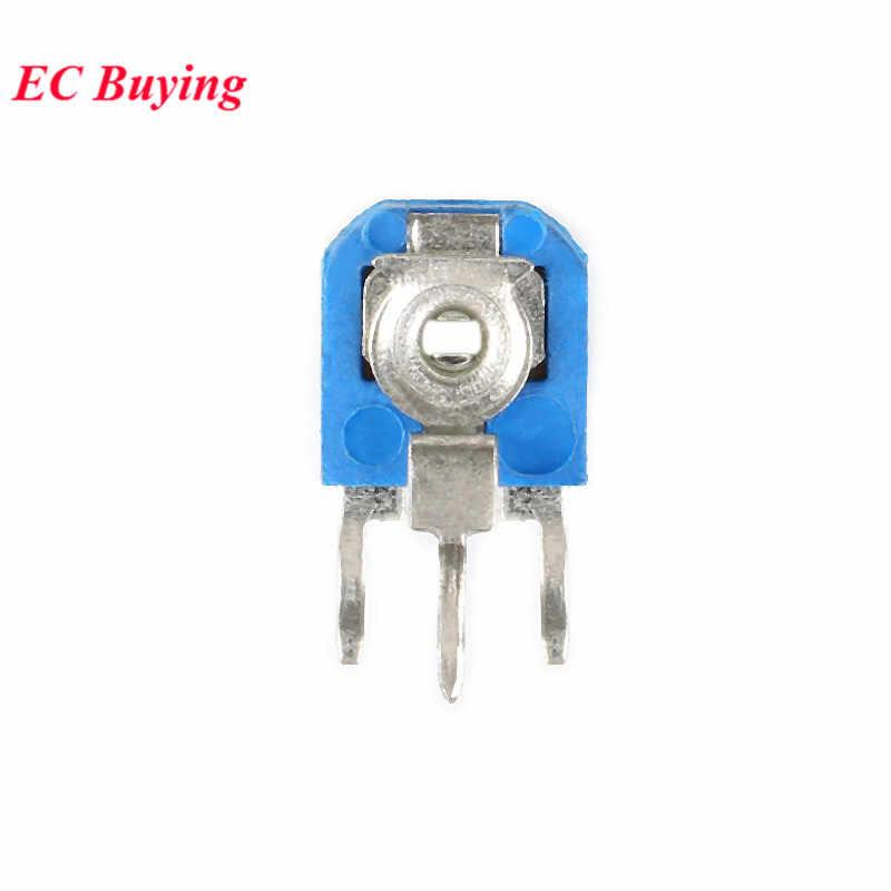 10 Pcs RM063 RM-063 1 K 2 K 5 K 10 K 20 K 50 K 100 K 200 K 500 K 1 M 100 200 500 Ohm Trimpot Pemangkas Potensiometer Variabel Resistor WH06