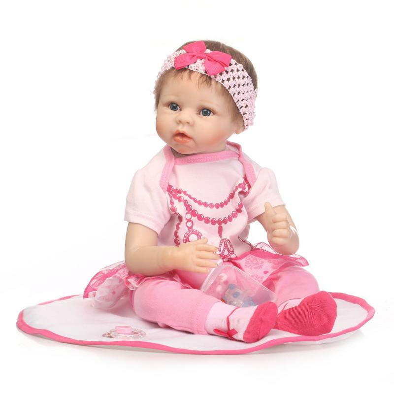 New 55cm Soft Silicone Reborn Baby Doll in Pink Clothes Baby Alive Bebe Doll Birthday Gift To kids Bedtime Early Education Toy bigbang 2012 bigbang live concert alive tour in seoul release date 2013 01 10 kpop