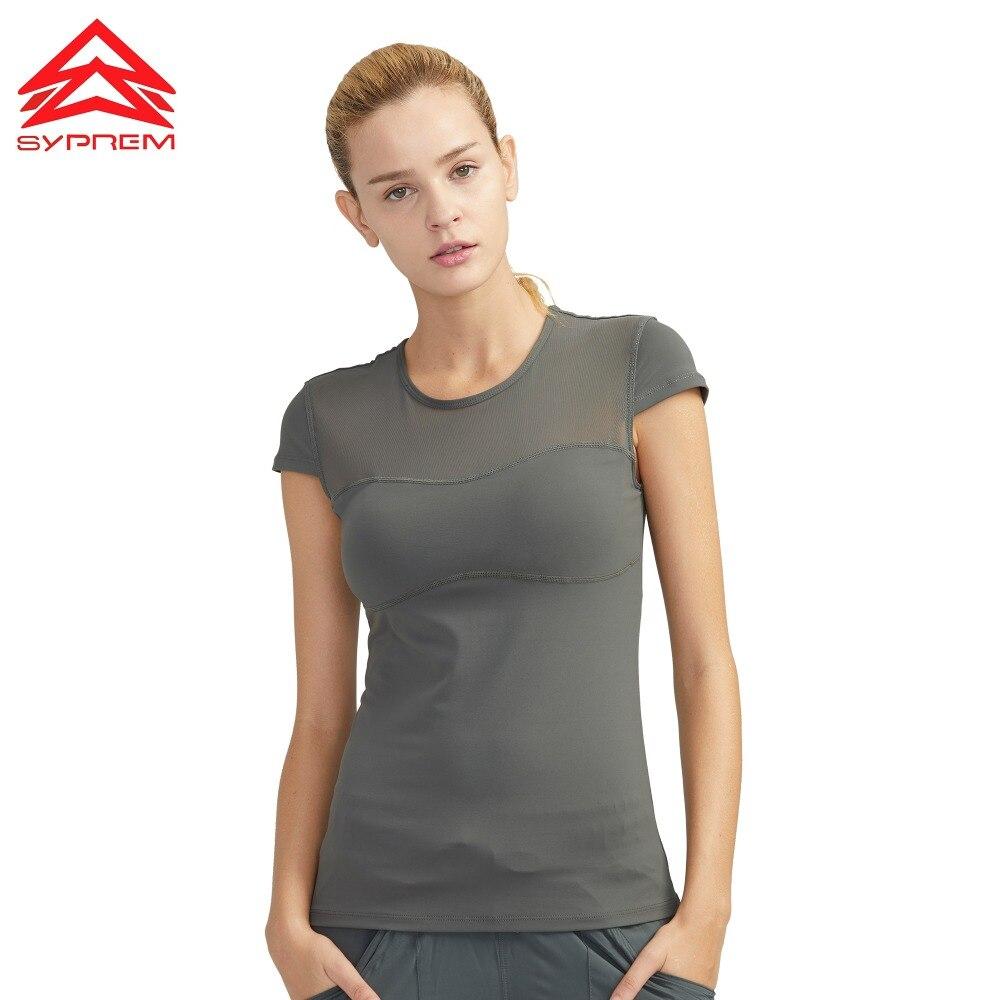 SYPREM women yoga shirt running gyms top tee sports t-shirt mesh girls tank brand quality,BX80110