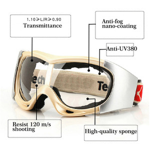 Image 4 - CK Tech. Windproof Safety Goggles Protective Eyeglasses Sand proof Anti fog anti impact Cycling Industrial Labor Work Glasses