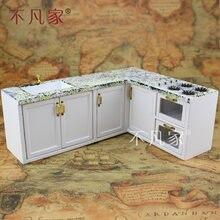 Кукольные домики 1/12 масштаб миниатюрная мебель белый кухонная