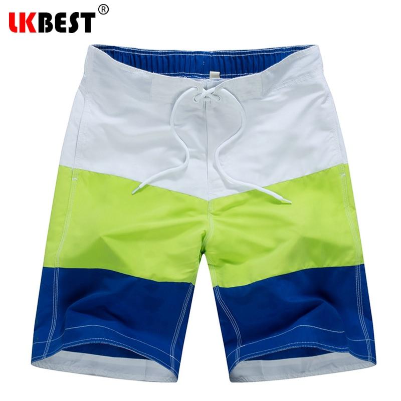 LKBEST Nueva moda patchwork Shorts Board hombres hombres de secado - Ropa de hombre