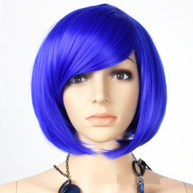 Cosplaywigs Synthetic lace Bob Cosplays headwear for Woman Girls bobwigs Halloween Costume Carnival Purim Nightclub party dress