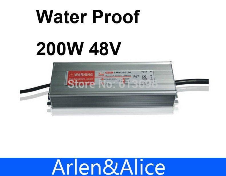 200W 48V 4.1A Waterproof outdoor Single Output Switching power supply for LED200W 48V 4.1A Waterproof outdoor Single Output Switching power supply for LED