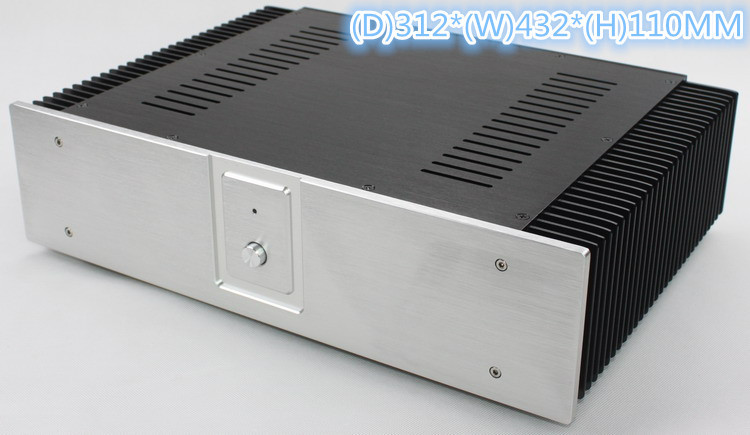 WA60 Full Aluminum Amplifier Enclosure /Mini AMP Case/ Preamp Box /DAC Chassis wa