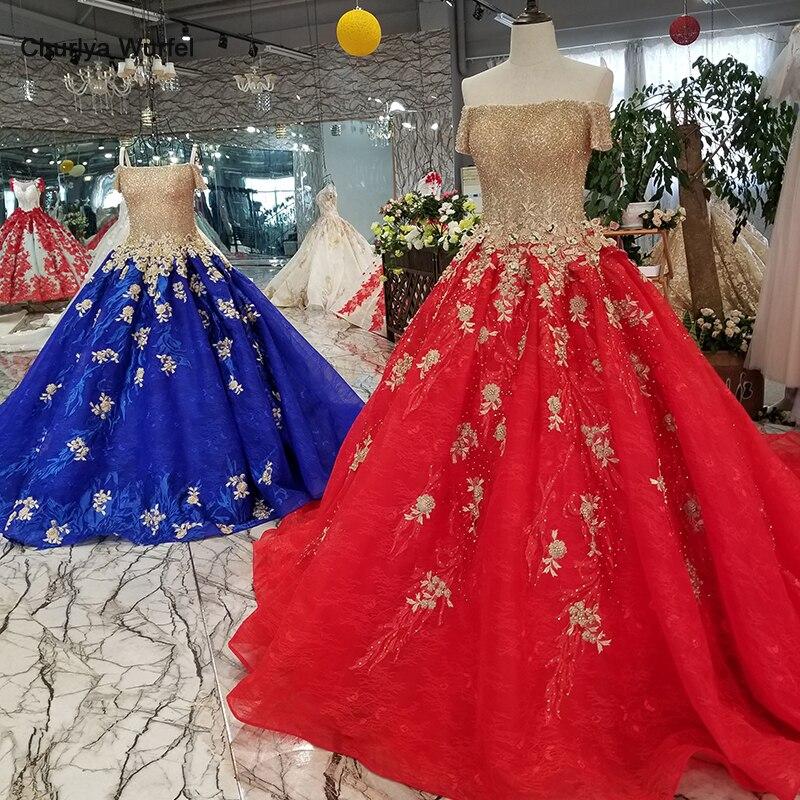 LS68870 robe de soirée de mariage rouge 2019 épaule dénudée col bateau à lacets dos longue robe de soirée pour les femmes 328 promotion discount