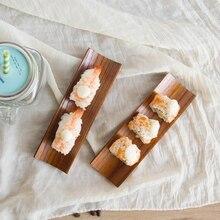 Serving-Tray Sushi Oblong-Plate Wooden Home-Supplies Kitchen Restaurant 1-Pc Salad Dumplings