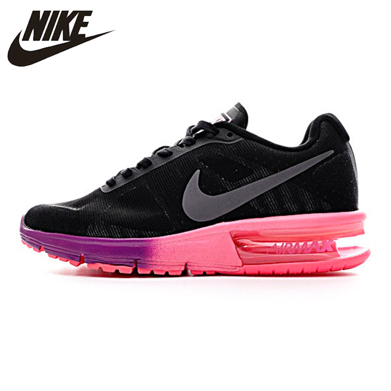 купить Nike AIR MAX Women's Running Shoes Shock Absorption Non-slip Wearable Breathable Lightweight Sneakers 719916-015 по цене 6630.44 рублей