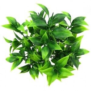 7 вилок/Букет 35 листьев 34 см Искусственный апельсин имитация листьев растения домашний балкон садовый Пейзаж украшения аксессуары