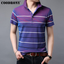 COODRONY T Shirt Men Spring Summer Streetwear Fashion Striped Design Casual T-Shirt Cool Short Sleeve Tee Homme S95071