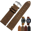 20mm / 22mm High quality handmade calfskin strap vintage genuine  leather strap watch strap free shipping