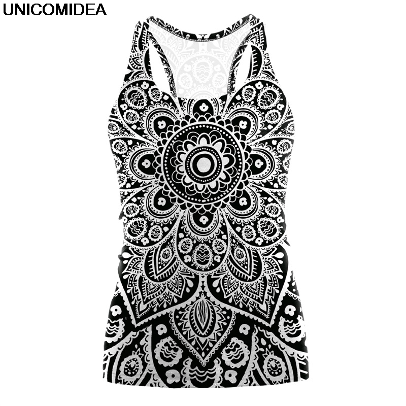 Summer Women   Tank     Top   3D Mandala Ombre Print Bodybuilding Halter   Tops   Vest Woman Cool Beach Casual Fitness Camis Women   Tops