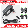2016sale!12V2A AC 100V-240V Converter Adapter DC 12V 2A 2000mA Power Supply EU Plug 5.5mm x 2.1-2.5mm for LED CCTV Free shipping
