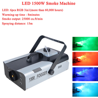 Professional Smoke Machine Wired Remote Control 1500W Fogger Machine Remote For Wedding Function Club Pub DMX Stage Fog Machine