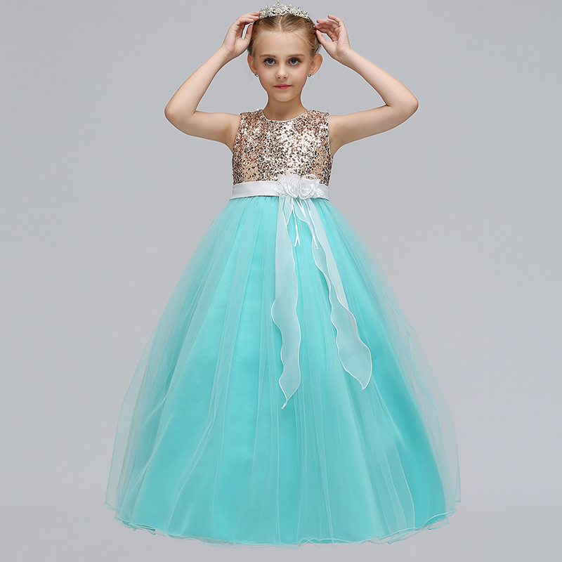 Wholesale First Communion Dresses For Girls Children Sequins Flower     Wholesale First Communion Dresses For Girls Children Sequins Flower Girl  Dress Girl Party Wedding Dress 12pcs lot Free DHL LP 72 in Dresses from  Mother