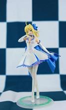 Japońskie Anime figurka los/pobyt noc wielkie zamówienie ALTER noc szabla biała sukienka rysunek PVC 27cm kolekcja modeli doll