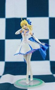 Image 1 - Japońskie Anime figurka los/pobyt noc wielkie zamówienie ALTER noc szabla biała sukienka rysunek PVC 27cm kolekcja modeli doll