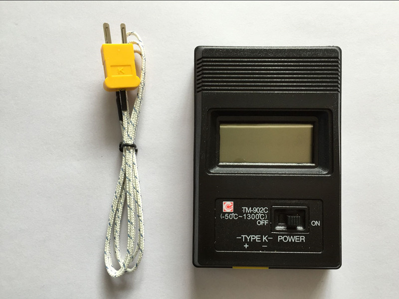 TM-902C Digital LCD K Type Thermometer Single Input + Thermocouple Probe